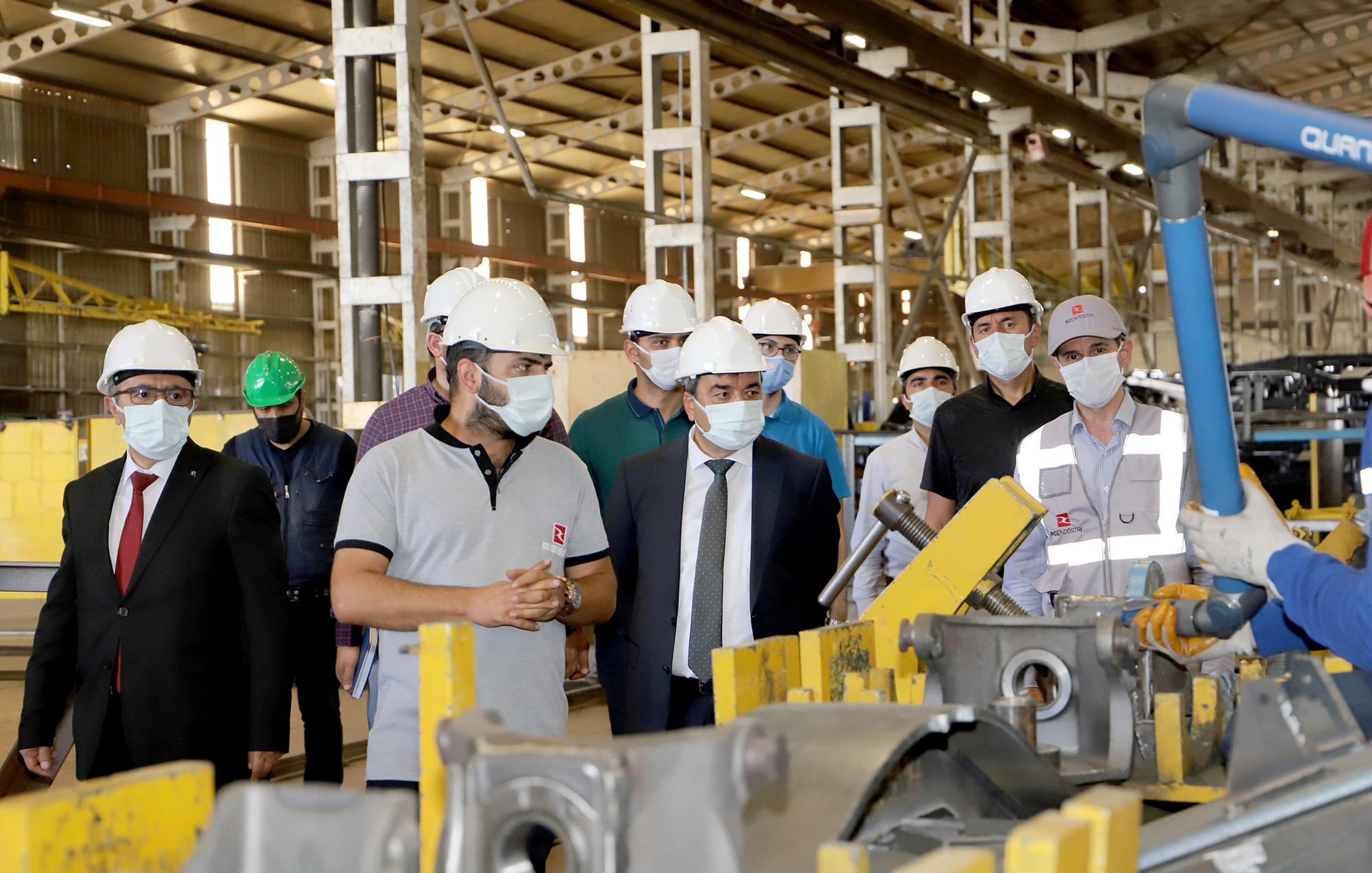 Üniversite Sanayi İş Birliği Kapsamında RC Endüstri Ulaşım Araçları A.Ş. Sivas Yük Vagonu Fabrikasına Ziyaret
